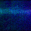 Multicolor abstract lights blue disco background. Square pixel m — Stockvektor