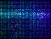 Abstracto multicolor luces de fondo azul discoteca. píxeles cuadrados m — Vector de stock