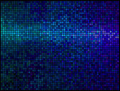 Multicolor abstract lights blue disco background. Square pixel m — Vector de stock