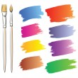 Royalty-Free Stock Vector Image: Brushes and grunge painted elements. Vector painted banners