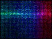 Fondo discoteca luces multicolor abstracto. mosaico de píxeles cuadrados — Vector de stock