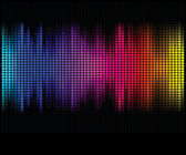 Multicolor abstract lights disco background. Square pixel mosaic — Vector de stock
