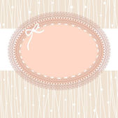 Vintage lace frame — Stock Vector