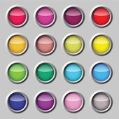 Varicoloured button vector web set — Stock Vector
