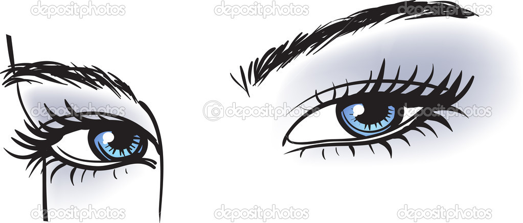 Female blue eyes — Stock Vector #5858903