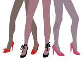 Woman legs in fashion shoes — Stock Vector