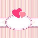 urodziny, pozdrowienia, Walentynki lub karty ślubu z serca — Wektor stockowy