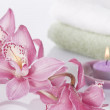 Spa concept still life with orchid — Stock Photo #5818473