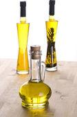 Olive oil bottles — Stock Photo