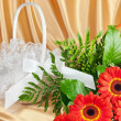 Bouquet of gerberas — Stock Photo