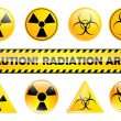 Radiation set - Stock Vector