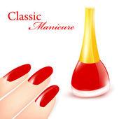 Classic Manicure — Stock Vector