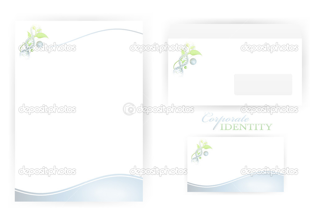 Set of corporate identity templates with organic science and DNA elements — Stock Vector #5532129