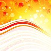 秋季波形框架 — 图库矢量图片