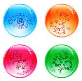 Floral balls — Stock Vector