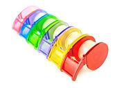 Colección multicolor cinta scotch — Foto de Stock