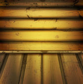 Empty natural wooden interior — Stock Vector