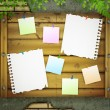 Board for messages at grunge wall -  