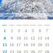 Calendar 2012, January - Foto Stock