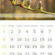 Calendar 2012, April — Stock Photo #6078770