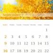 Kalendář 2012, září — Stock fotografie