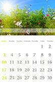 Calendario 2012, giugno — Foto Stock