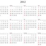 Calendar 2012 — Stock Vector #6078811