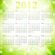 2012 eco green wall calendar — Stock Vector #6078816