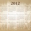 Calendar 2012 - Imagens vectoriais em stock