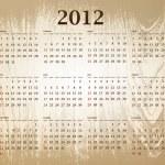 Calendar 2012 — Stock Vector #6078817