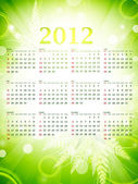 2012 eco green wall calendar — Stock Vector