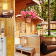 House collage - Foto Stock