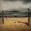 Football goals at the beach — Stock Photo #6434987
