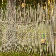 Fence with fishing net - Zdjcie stockowe