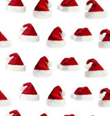 Seamless Santa hat background — Stock Photo