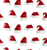 无缝圣诞老人帽子背景 — 图库照片