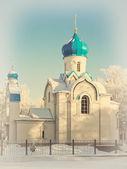 Kościół zimą — Zdjęcie stockowe