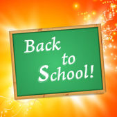 "Blackboard with ""Back to School!"" message — Vettoriale Stock"