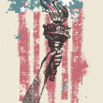 Abstract USA patriotic vector illustration — Stock Vector