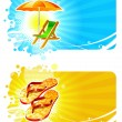 Stock Vector: Beach resorts vector frames