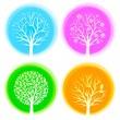 Four seasons vector trees — Stock Vector #5405153