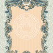 Engraved vintage decorative frame - Stok Vektr