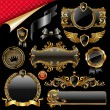 Royalty-Free Stock Imagem Vetorial: Set of royal golden design elements
