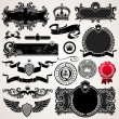 Set of royal ornate frames and elements - Stok Vektr