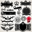 Set of royal ornate frames and elements — Vector de stock