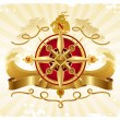 Постер, плакат: Adventures emblem with compass rose