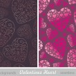 Valentines hearts seamless backgrounds — Vector de stock