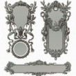 Vector de stock : Vintage engraved ornate frames