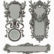 Vintage engraved ornate frames — Vector de stock