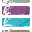Banners with currency signs — Stock Vector